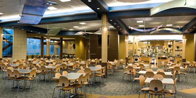 Reiver Galley and cafeteria seating.